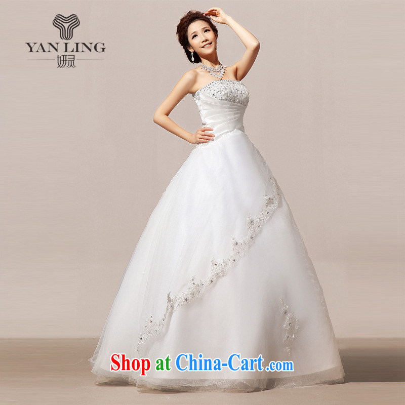 2015 new wedding tail winter wedding wedding wiped his chest wedding dresses long skirt HS 80 white XL, her spirit, and shopping on the Internet