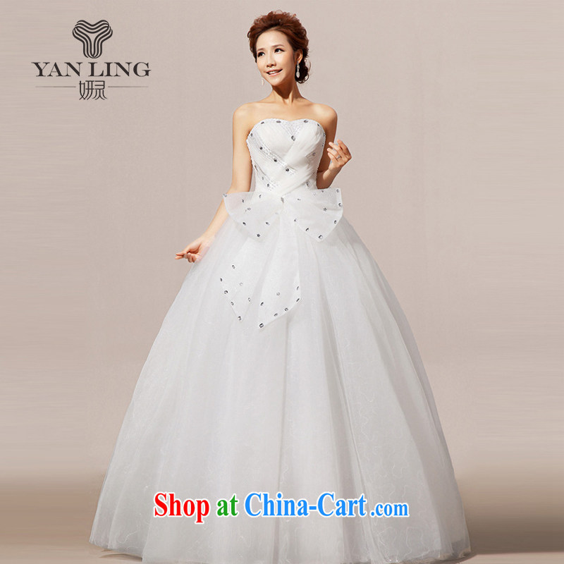 2015 new wedding dresses wedding erase chest Korean wedding dresses sweet HS 239 white XL