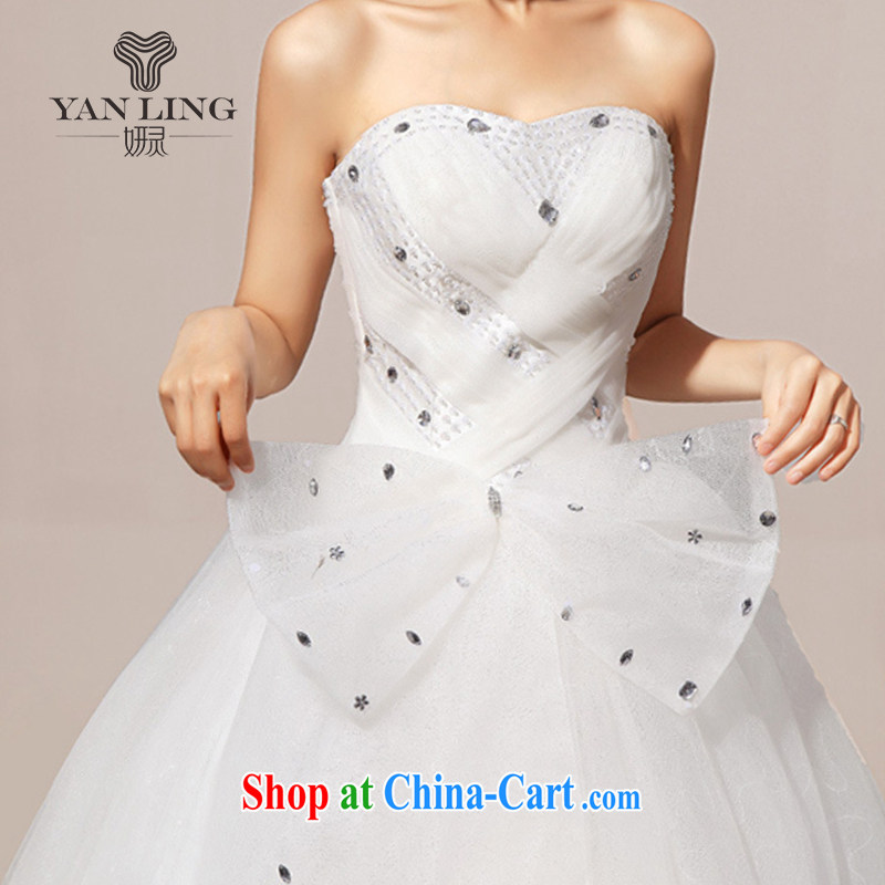 2015 new wedding dresses wedding erase chest Korean wedding dresses sweet HS 239 white XL, her spirit, and, on-line shopping