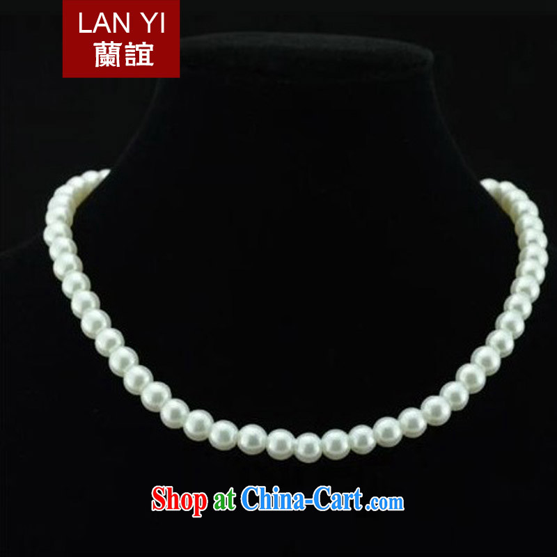 (Quakers, Korean style short, the pearl necklaces clavicle link marriages wedding dresses dresses accessories girls jewelry Pearl White