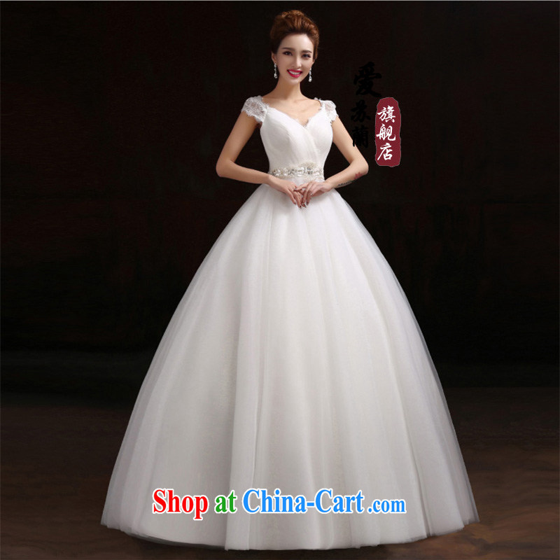 All in a stylish wedding bridal marriage wedding dresses 2015 best-selling simple wedding new wedding dresses bridal wedding double-shoulder white. size does not return does not switch