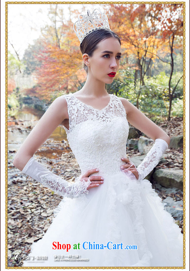 The bride's wedding winter wedding dresses new 2015 field shoulder lace wedding dresses 2541 white M pictures, price, brand platters! Elections are good character, the national distribution, so why buy now enjoy more preferential! Health