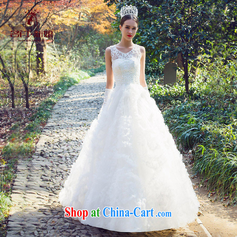 The bride's wedding dresses winter wedding dresses new 2015 a Field shoulder lace wedding dresses 2541 white M, the bride, shopping on the Internet