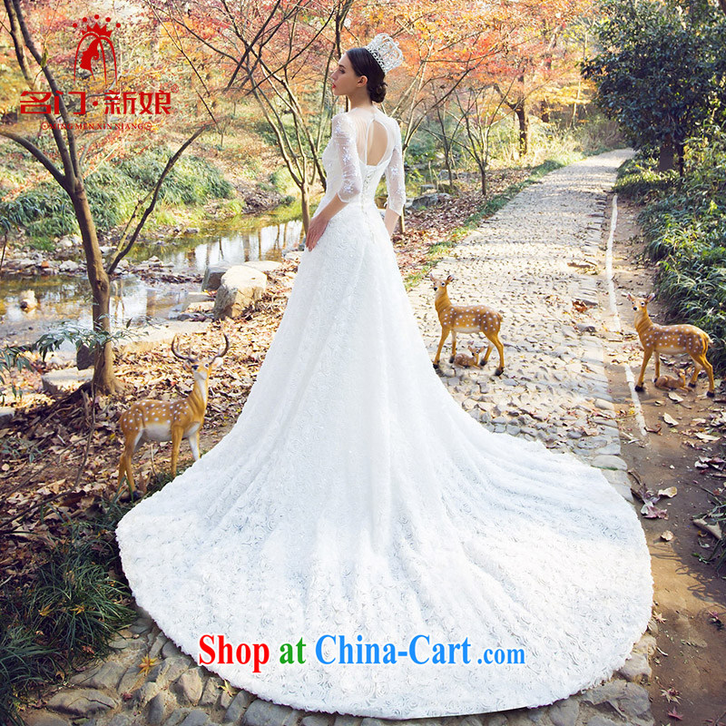 The bride bridal wedding marriage wedding new 2015 antique original design custom 2529 white M