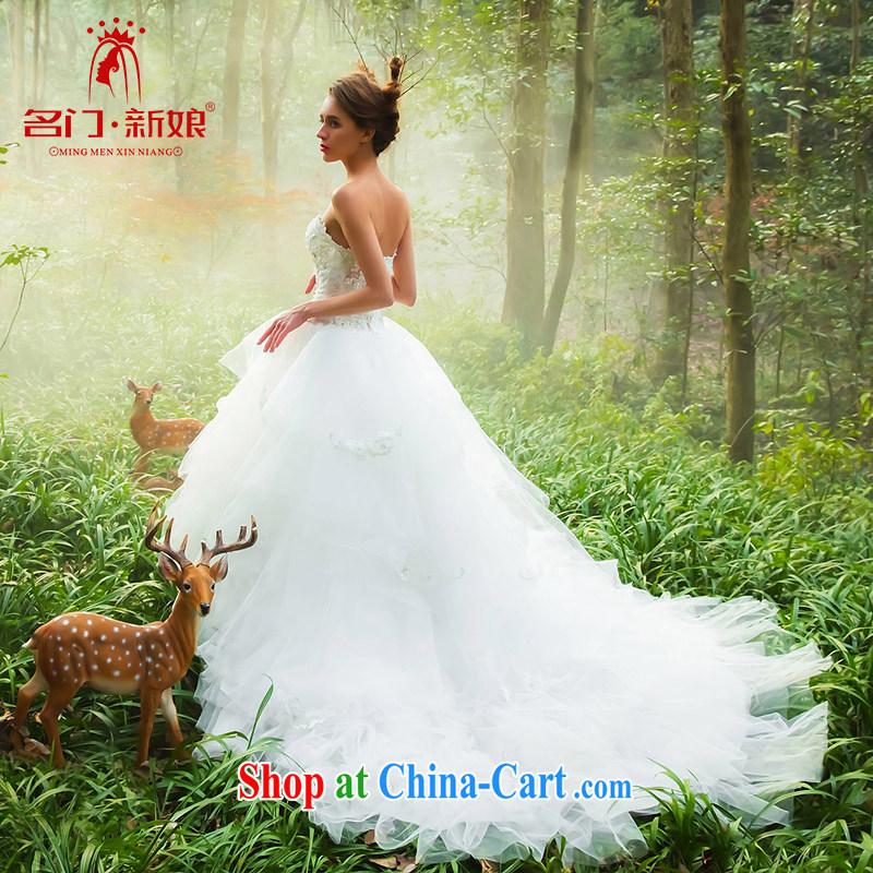 The bridal custom wedding wiped chest wedding autumn tail wedding dream sum girls 2537 white S