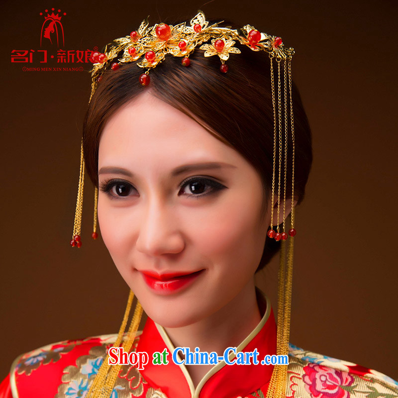 The bride's retro bridal headdress classic Pearl was further, Su-wo Service head-dress of dragon head trim 141