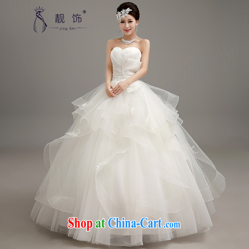Beautiful ornaments 2015 new stylish wedding Korean version wiped off chest graphics thin with wedding dresses bridal wedding canopy skirts wedding white. Contact customer service