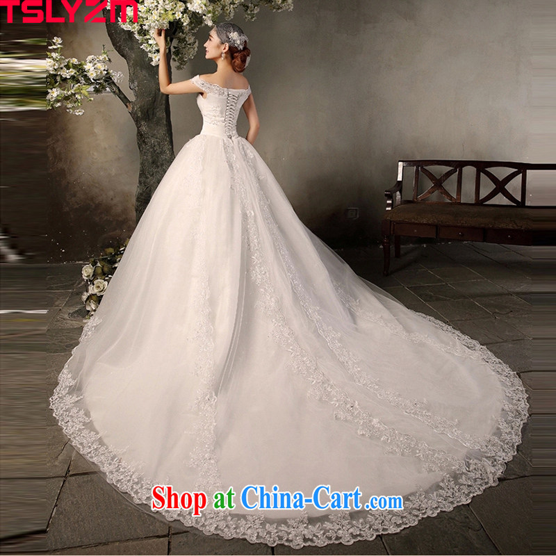A Tslyzm field shoulder long-tail wedding dresses 2015 spring and ...
