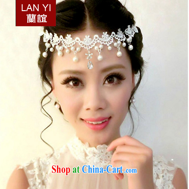 Friends, bride's handmade lace wedding jewelry necklace Korean-style wedding accessories and ornaments pearls and ornaments of jewelry necklace white