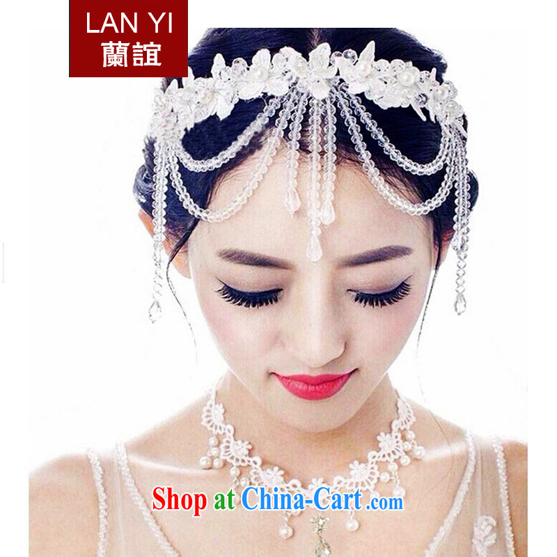 (Quakers, Korean-style bridal headdress crystal-su and ornaments ornaments for wedding dresses accessories jewelry white