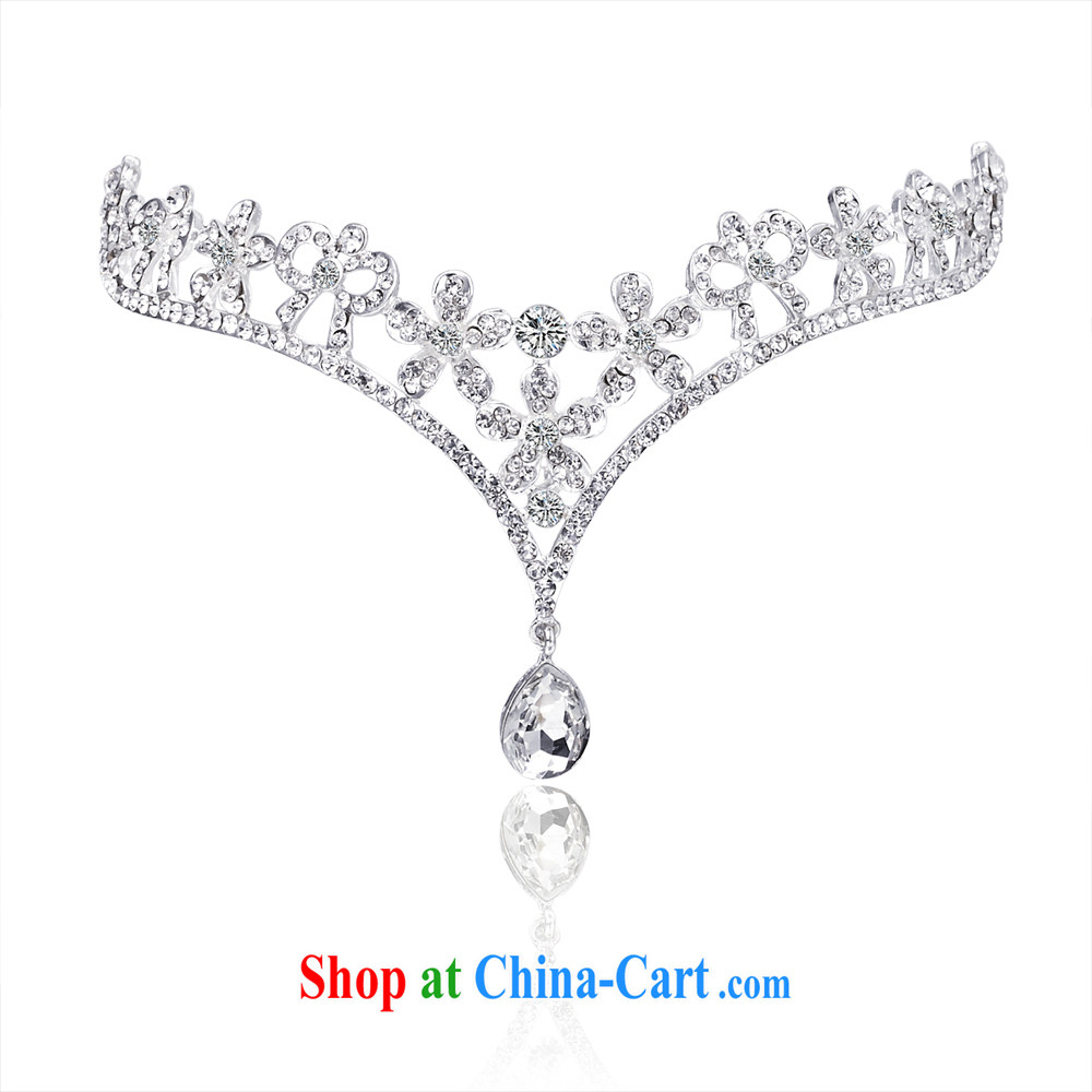 The bride bridal jewelry wedding accessories bridal forehead jewelry bridal accessories wedding jewelry 055 silver