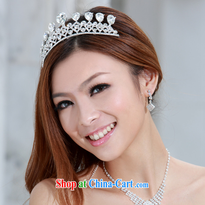 The bride bridal headdress bridal accessories bridal jewelry and ornaments wedding Crown 098 silver