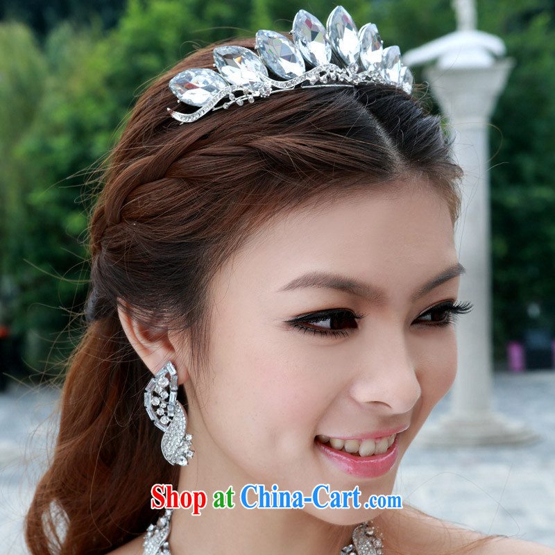 The bride bridal headdress bridal accessories bridal jewelry and ornaments wedding Deluxe Crowne Plaza 096 silver