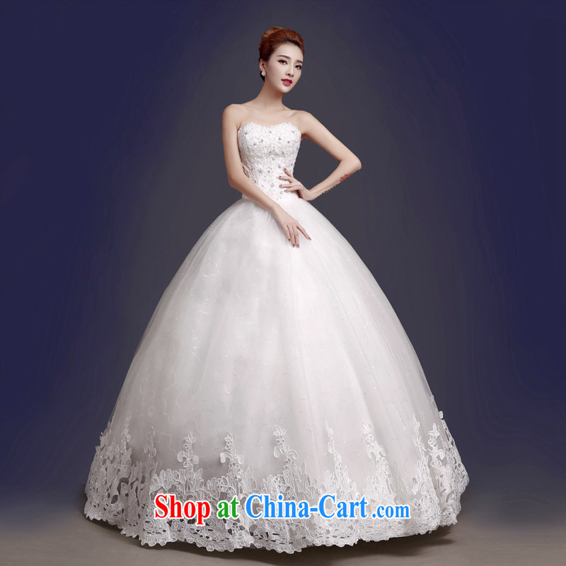 The color is still SA 2015 new wedding dresses Korean-style bare chest and stylish with a strap bridal wedding dresses Fall Winter thick wedding white XXL