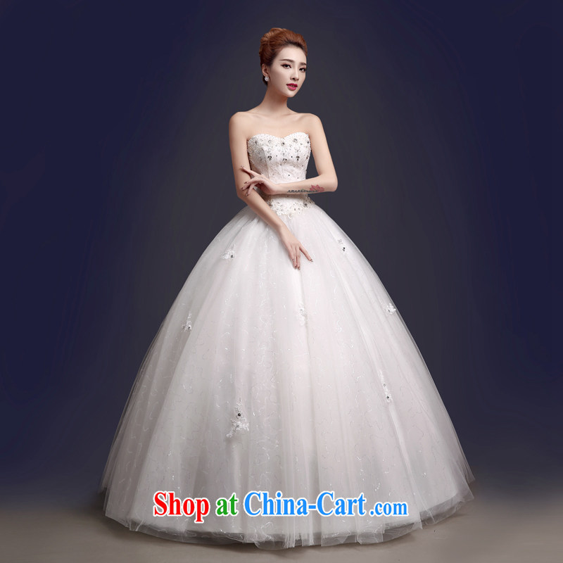 The color is still Windsor wedding dresses new 2015 spring wood drill lace bare chest strap with sweet Princess graphics thin large, white white high-end made pro-contact Customer Service MM