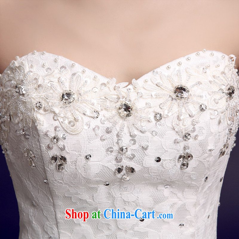 The color is still Windsor wedding dresses new 2015 spring wood drill lace bare chest strap with sweet Princess graphics thin large, white white high-end up doing pro-contact Customer Service MM, the color is still Windsor, shopping on the Internet