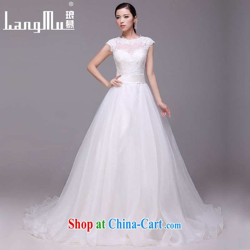 In Luang Prabang in 2015 of new round-collar wedding dresses Lace Embroidery zipper tail wedding customized advanced customization
