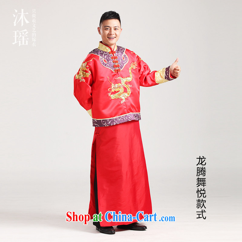 2015 marriage-su Wo service men's dress toast serving Phoenix and use Chinese Han-costumed and match-soo and couples, spring and summer with short skirts 3 Prince Edward style L - brassieres 120 CM