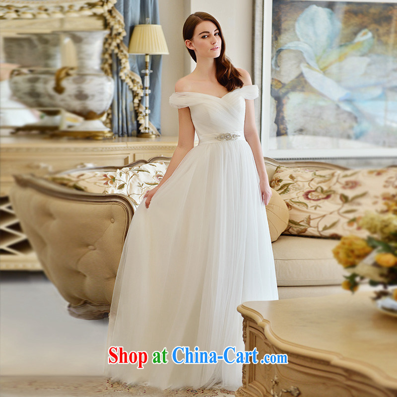 Full court, a field shoulder wedding dresses 2015 new tail spring and summer in short and sweet, waist straps with bare chest with Paragraph 173 - M