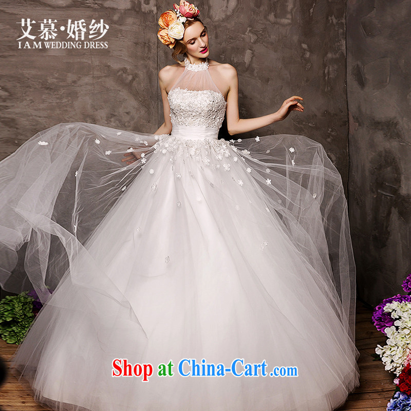 On the wedding dresses new 2015 Spring and Winter improving reproductive erase chest wall also two through with shaggy dress wedding white M