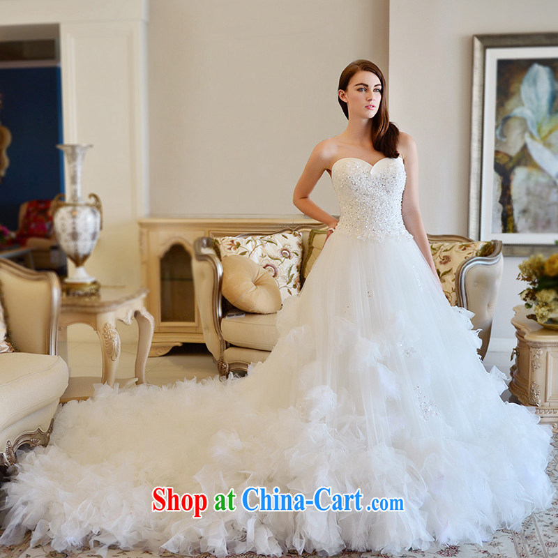 2015 MTF full chamber, autumn and winter new erase chest wedding dresses bridal wedding tie the tail wedding tail 100 173 cm - M