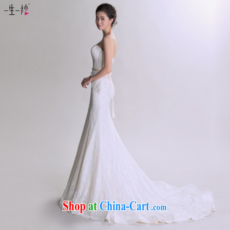 Yao snow fall in love with the ultra-template stars, with wedding 2015 new erase chest at Merlion Wedding Video thin summer 402501208 white tailored does not and will not switch to a yarn, shopping on the Internet