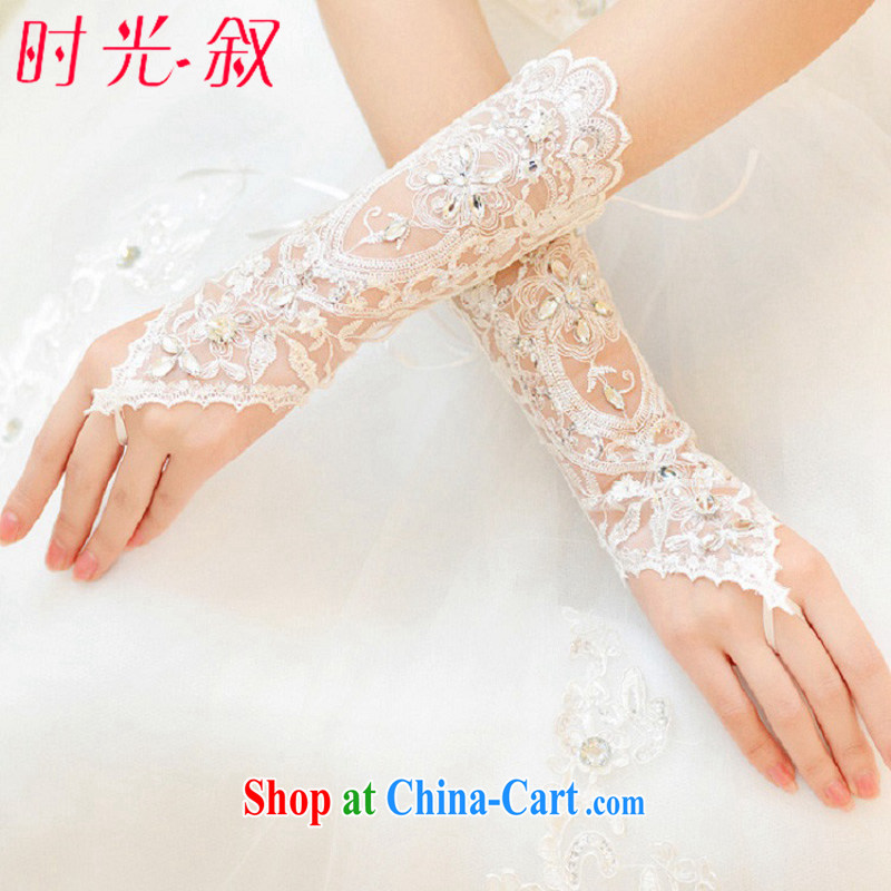 Time Syrian lace exposed to Bride gloves high quality long gown wedding gloves and elegant antique wood drill style wedding supplies