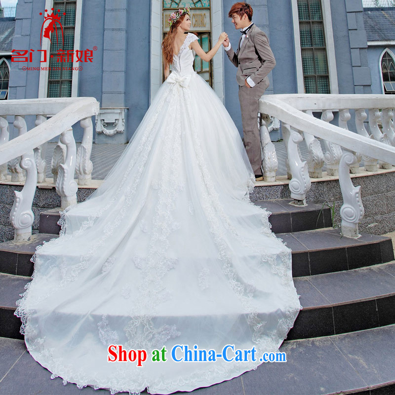 The bride's wedding dresses Korean-style drag and drop tail wedding long-tail new wedding 947 made 25 day shipping