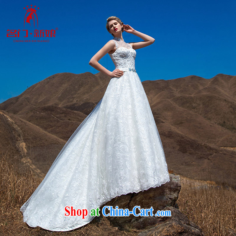 The bride 2015 Stylish retro wedding retro, for lace-tail wedding luxury drill flash 573 made 25 day shipping
