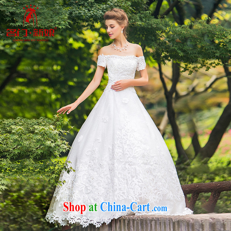 The bride's wedding dresses tied with new 2015 drill A Field dress with wedding sweet 887 White made 25 day shipping