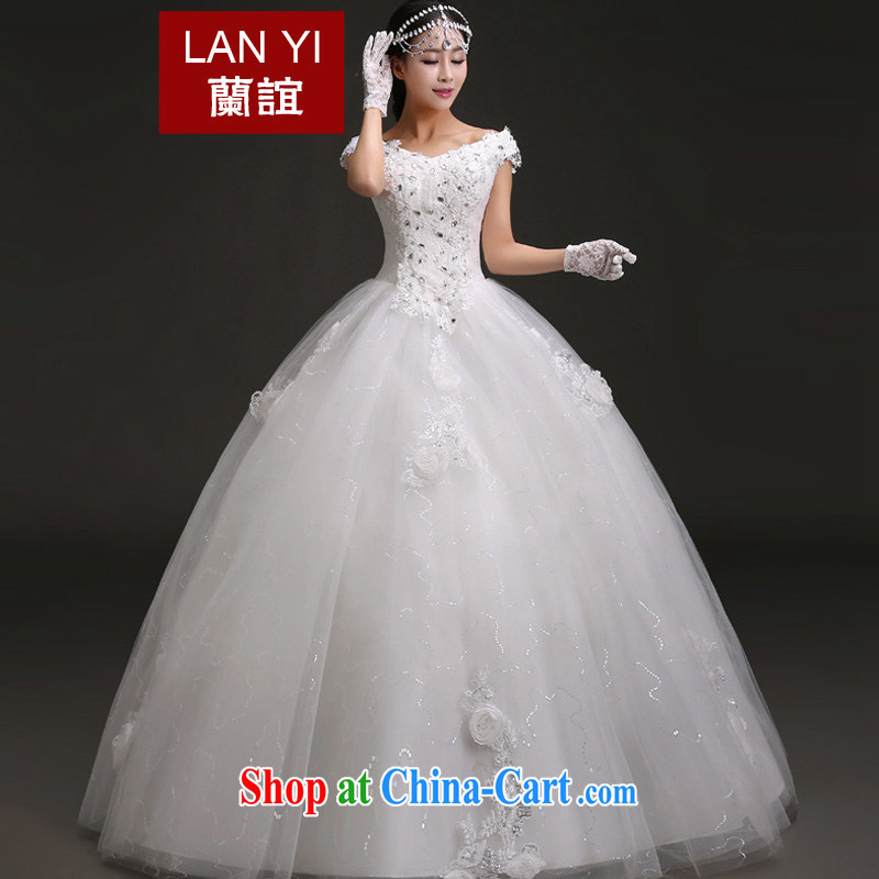 Friends, Korean edition 2015 new bride's wedding band with a shoulder shaggy dress bridal Princess wedding dresses Quality Assurance quality assurance