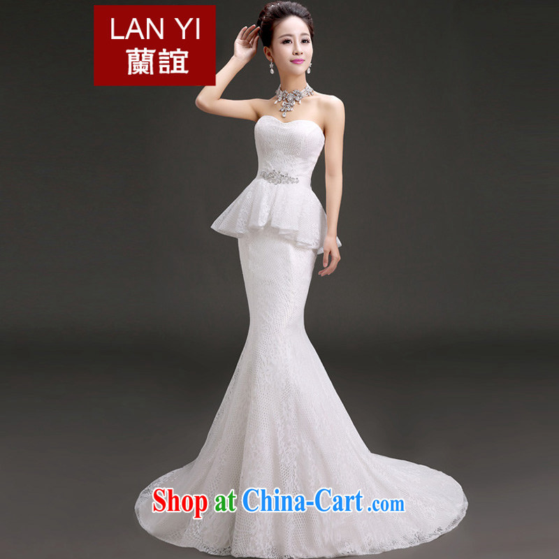 Friends, wedding dresses 2015 new erase chest small tail crowsfoot-waist lace wedding Korean video thin wedding dresses white quality assurance