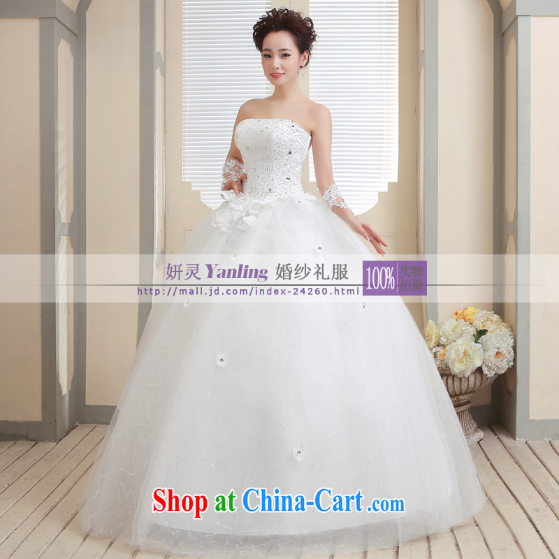 Her spirit/YANLING Korean wiped his chest bridal wedding dresses and ladies elegantly tied with 14,009 custom