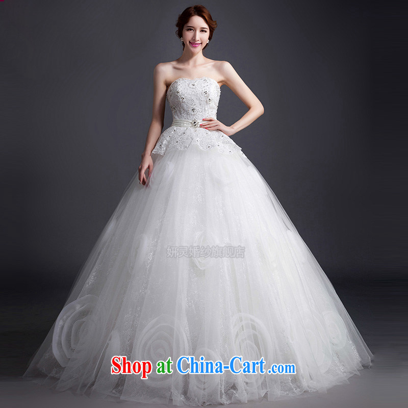 2015 new spring white wiped his chest to pregnant women wedding dresses and stylish wedding dresses the bridal wedding wedding tail wedding XL