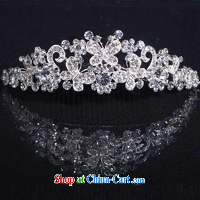 married love bridal jewelry Crown wedding dress wedding photo building makeup accessories and ornaments new Crown light gray