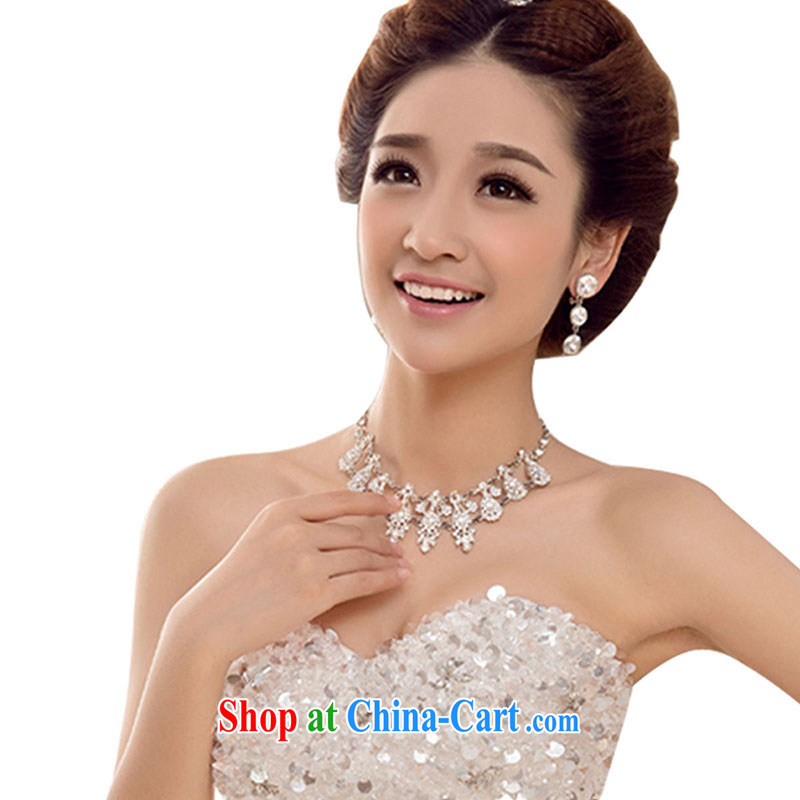 Marriage true love bridal necklace alloy jewelry white water drilling jewelry dress accessories wedding color water drilling accessories white