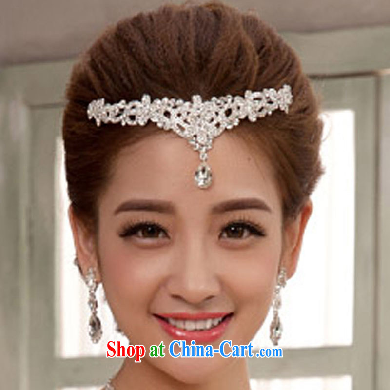 married love bride-Trim Water drill large crown wedding jewelry bridal accessories white