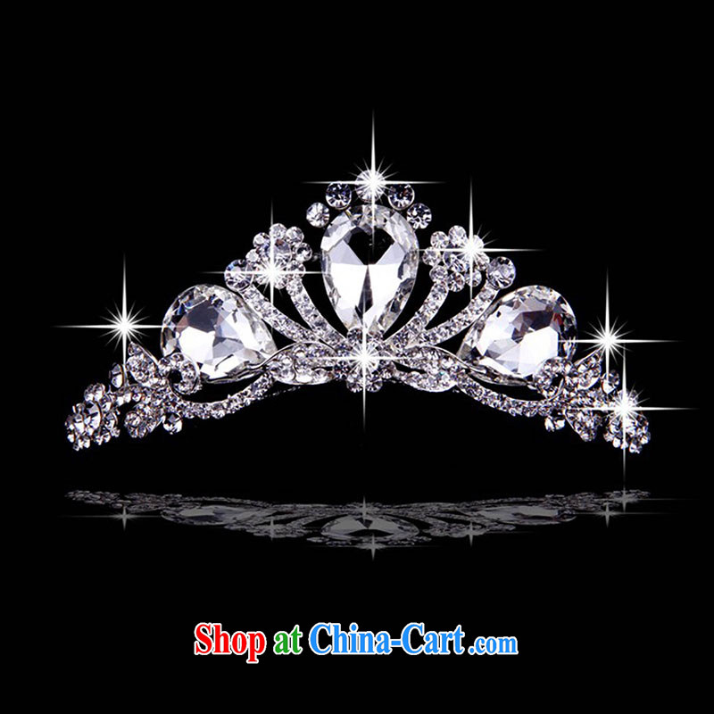 married love large Zircon Crown Deluxe crystal ornaments the comb water drill with Korean version of the greater Crown white