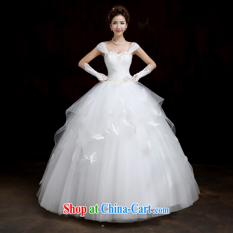 Su Wu edge 2015 New a yarn 3 through video thin the Field shoulder married women wedding dresses with shaggy dress white manual wedding white M