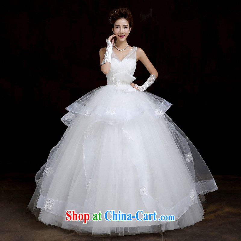 Su Wu edge wedding dresses new 2015 Korean shoulders wedding with graphics thin larger custom pregnant wedding white XL