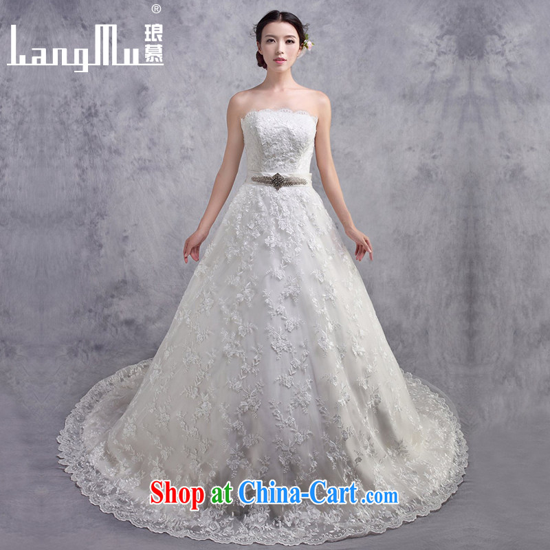 The lang 2015 new wedding dresses lace bare chest cultivating high-tail A Field wedding customized advanced customization