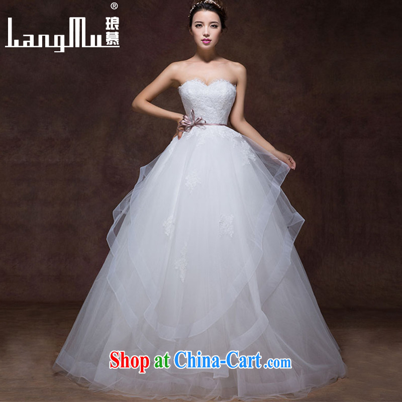 Luang Prabang in autumn 2015 new stylish simplicity and bow-tie point drill lap erase chest A swing with yarn wedding dresses white advanced customization