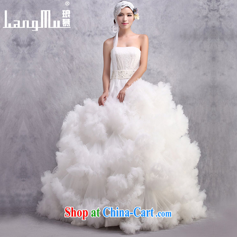 In Luang Prabang in 2015 OF NEW bare chest wedding dresses luxurious High-tail cloud dance of flowers custom white advanced customization