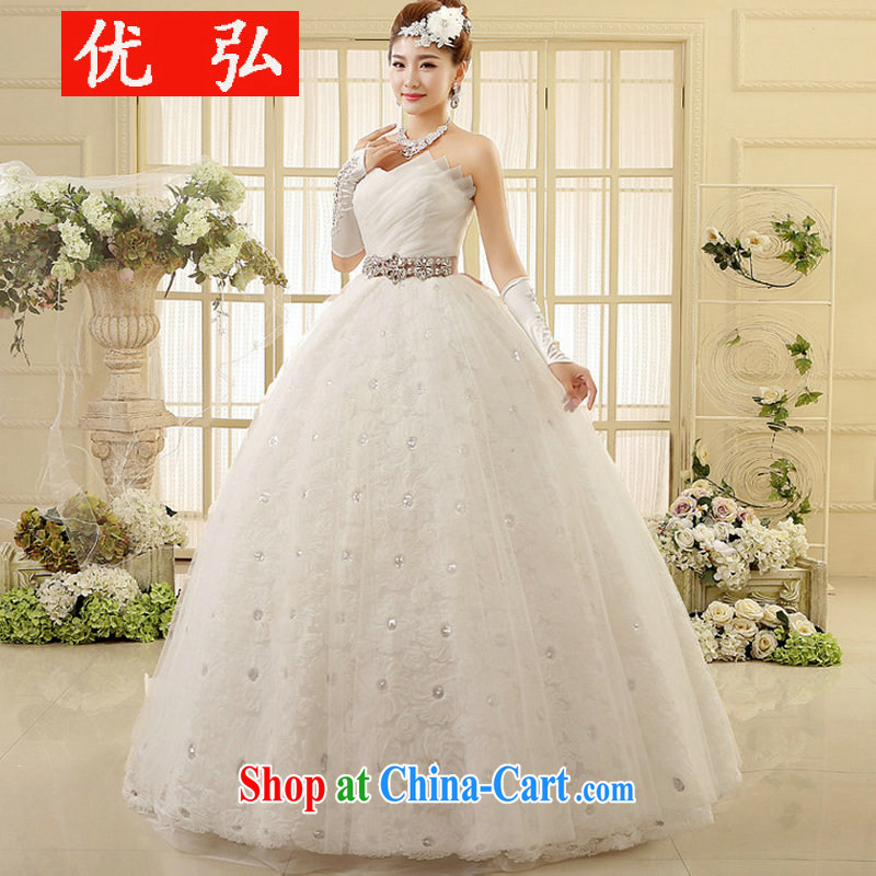 2014 Winter Fashion Korean bridal erase chest wedding with the Code mm thick graphics thin winter, 6002 XS white XXL