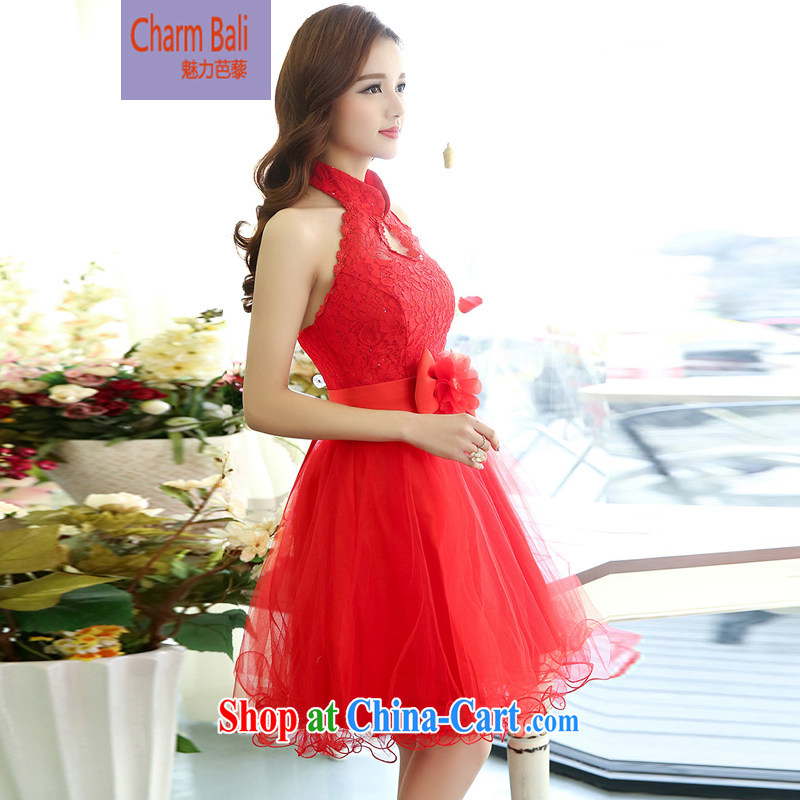 Hip Hop charm and Asia 2015 spring Korean beauty, natural gas is also very stylish shaggy stylish wedding dresses wedding dress red XL