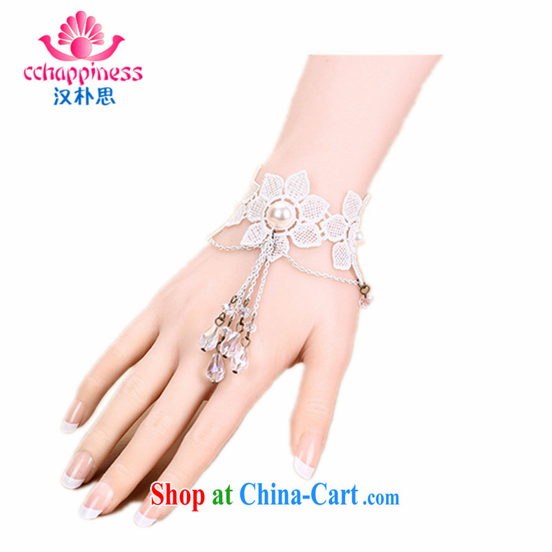 Han Park (cchappiness) new products, hot jewelry fine white lace crystal hand chain with wedding white are code