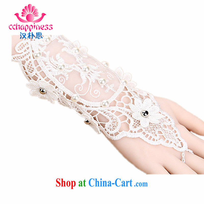 Han Park (cchappiness) bridal wedding wedding accessories exquisite antique lace lace gloves hand chain wedding with single white are code