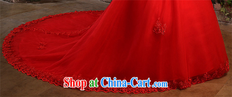 Bride Tslyzm wipe the chest tail wedding dresses 2015 new spring and summer parquet water drilling long drag to cultivating graphics thin wedding dress 120 CM trailing white XL pictures, price, brand platters! Elections are good character, the national distribution, so why buy now enjoy more preferential! Health