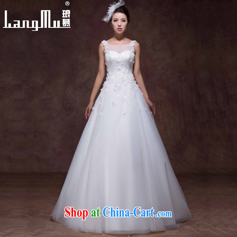 Luang Prabang in 2015 new wedding dresses Korean Beauty shoulders with lace flowers brides with wedding custom white advanced customization