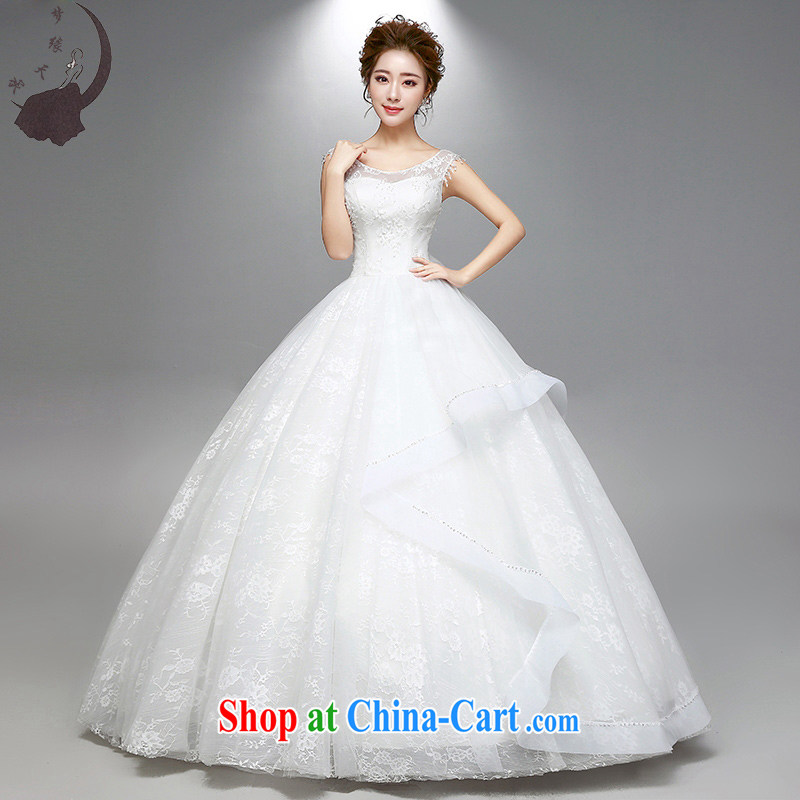 Dream of the day wedding dresses 2015 summer new dual-shoulder a shoulder lace wedding dress 1776 white tailored